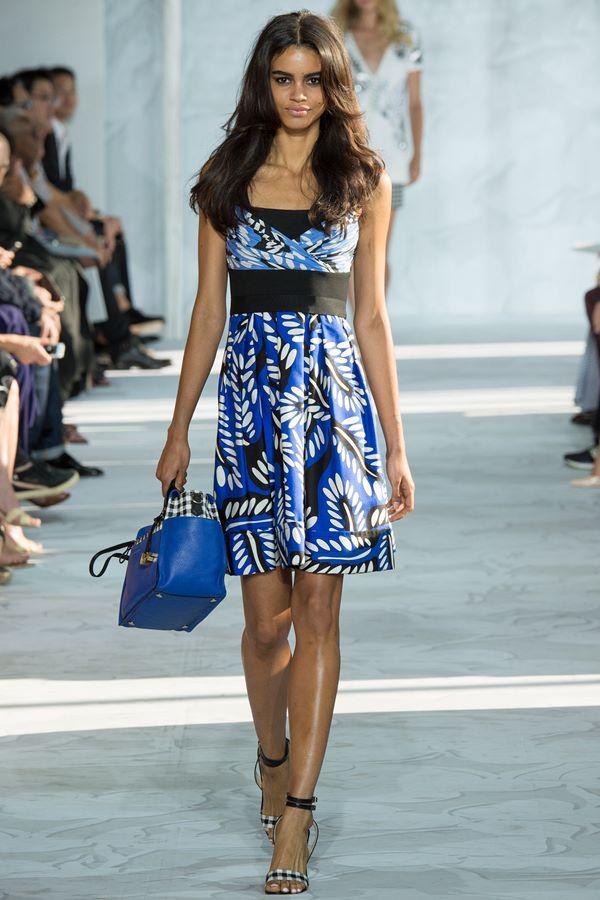 Синие платья весна-лето 2015 Diane von Furstenberg