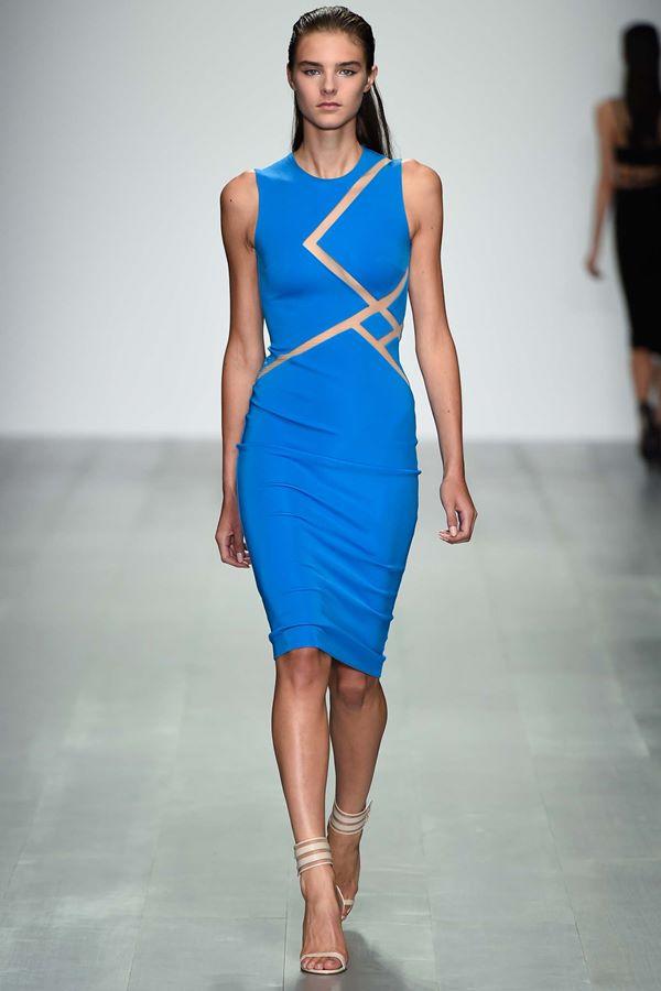Голубые платья весна-лето 2015 David Koma
