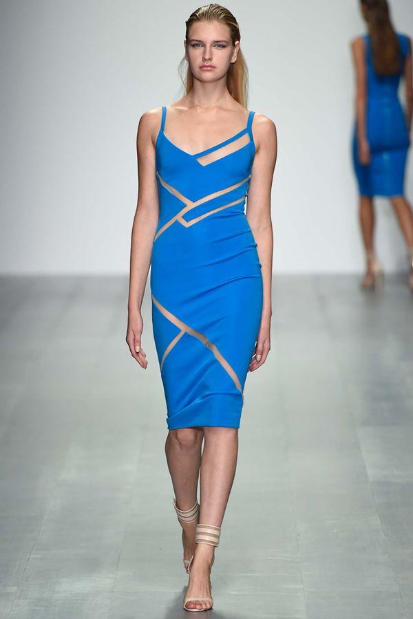 Синие платья весна-лето 2015 David Koma