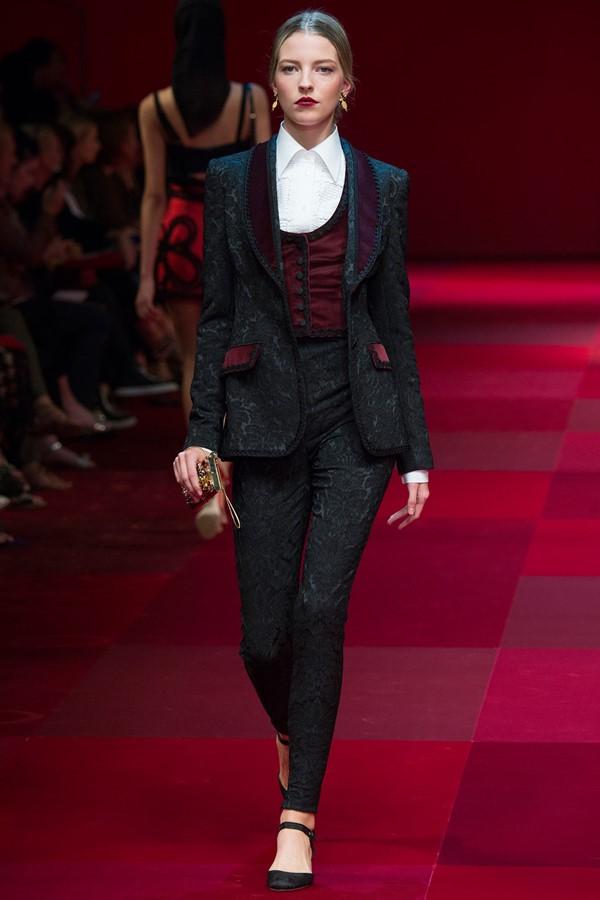 Женские брючные костюмы весна-лето 2015 Dolce&Gabbana