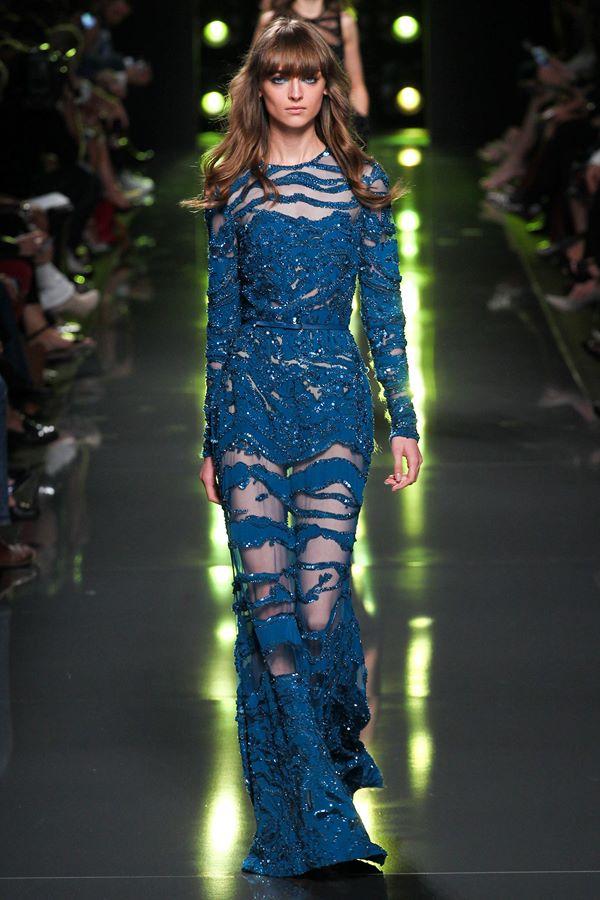 Синие платья весна-лето 2015 Elie Saab