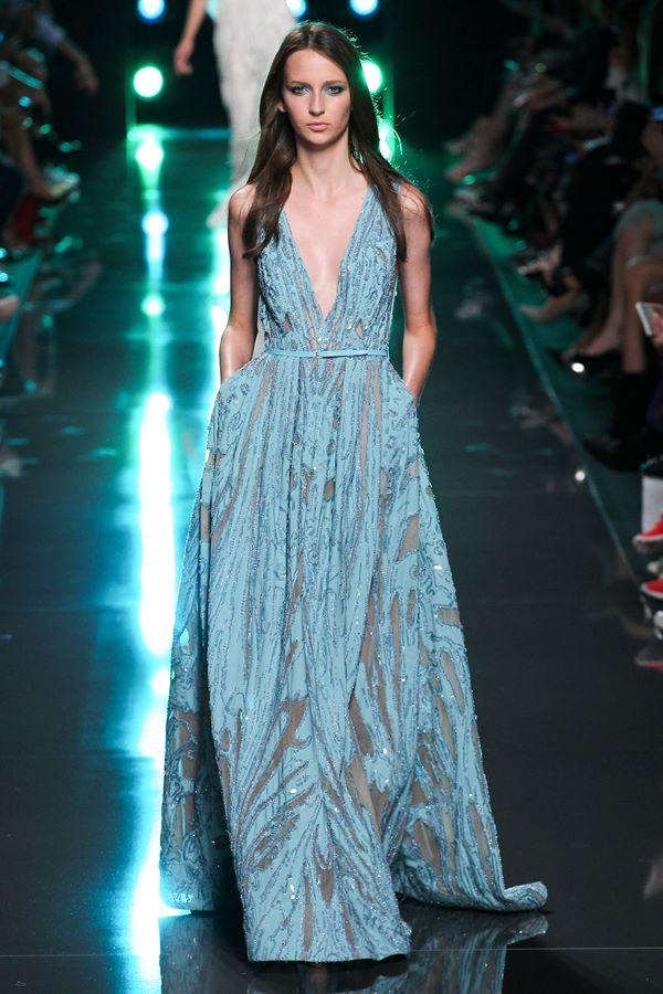 Голубые платья весна-лето 2015 Elie Saab
