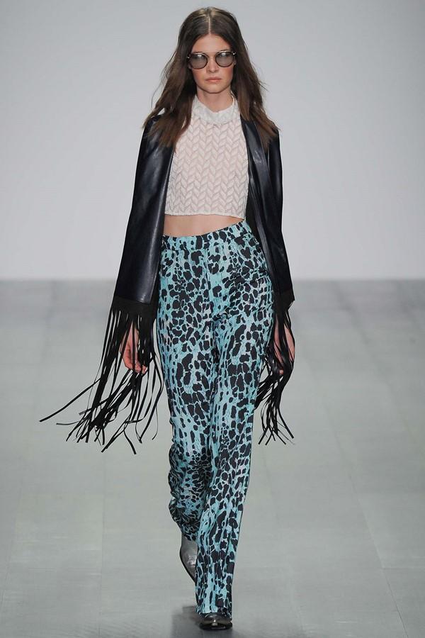 Felder Felder брюки с принтом весна-лето 2015