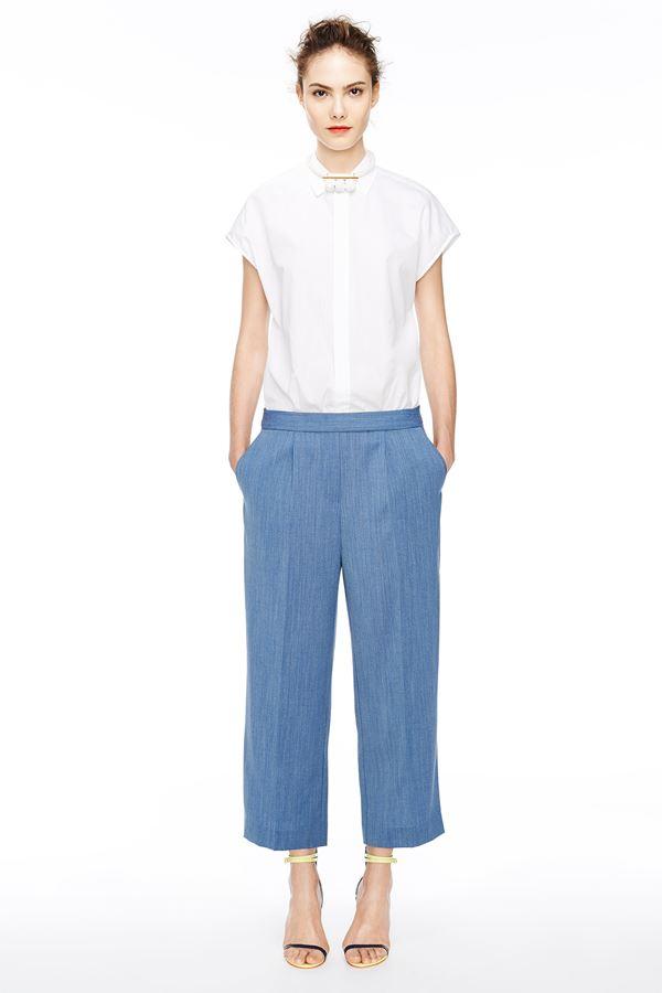 J Crew укороченные брюки весна-лето 2015