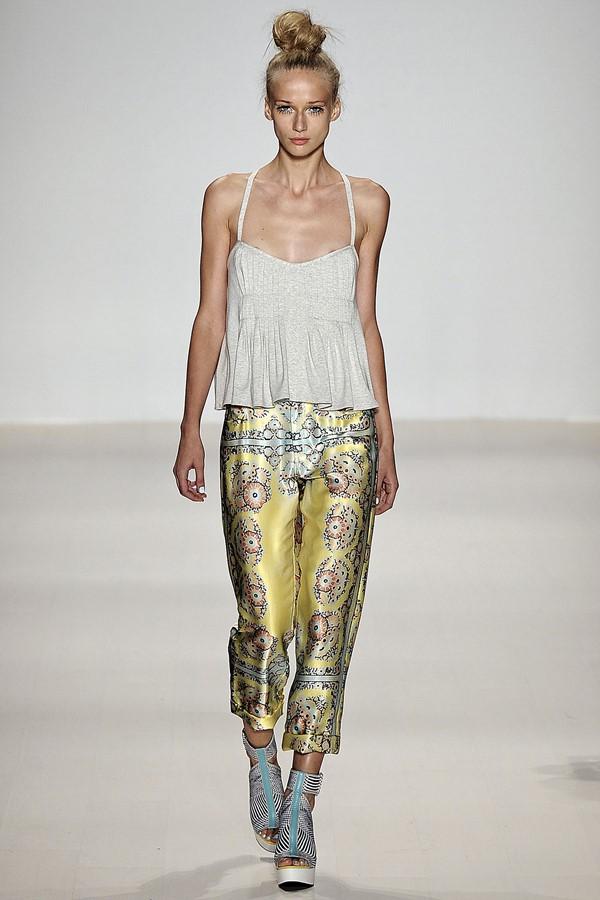 Nanette Lepore брюки с принтом весна-лето 2015
