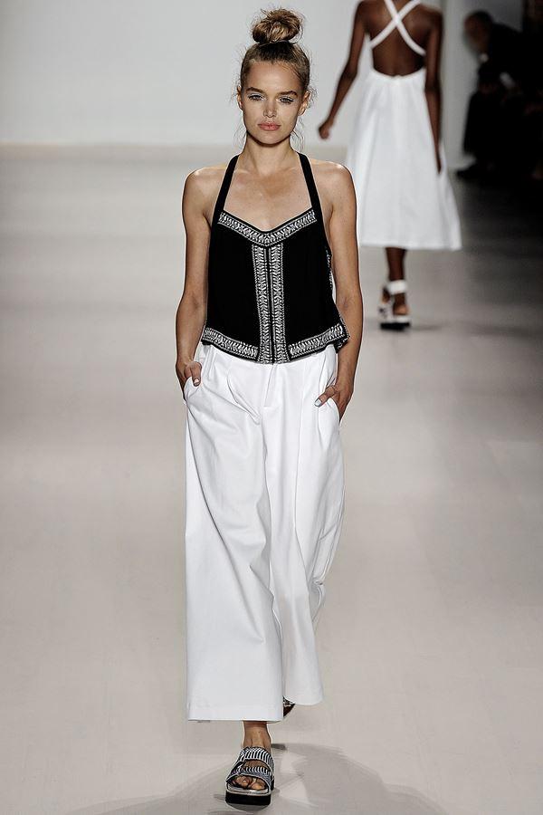Nanette Lepore укороченные брюки весна-лето 2015