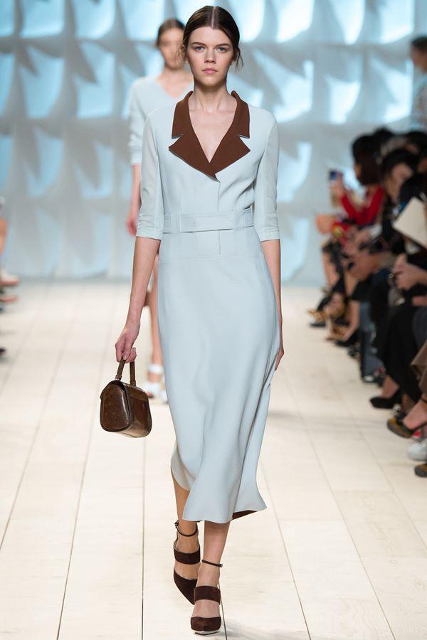 Голубые платья весна-лето 2015 Nina Ricci