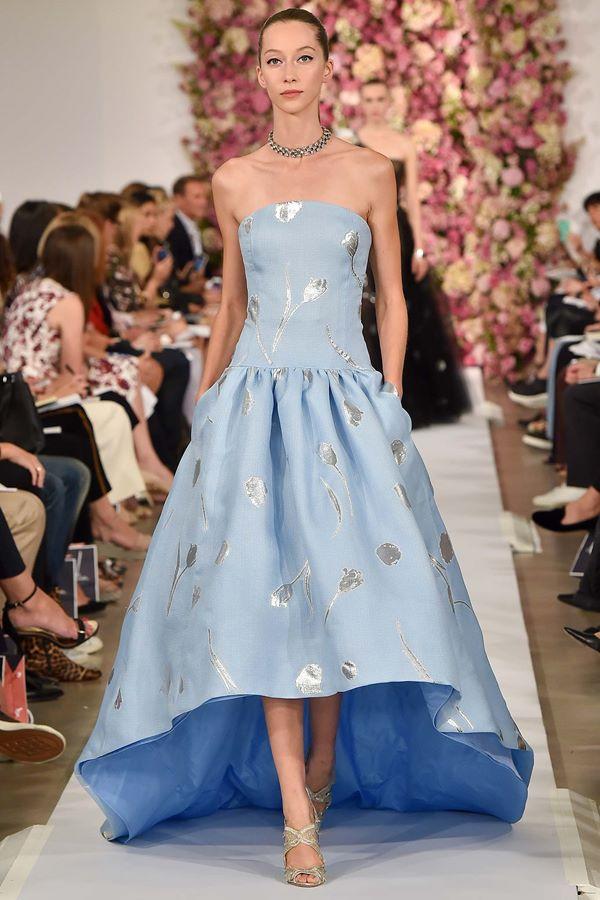 Голубые платья весна-лето 2015 Oscar de la Renta