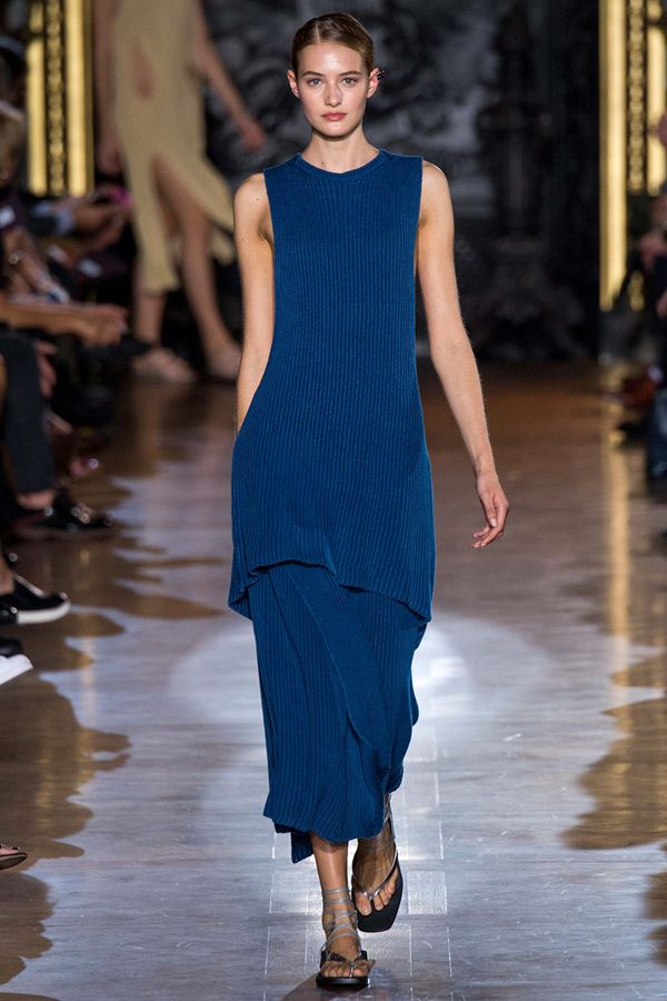 Синие платья весна-лето 2015 Stella McCartney