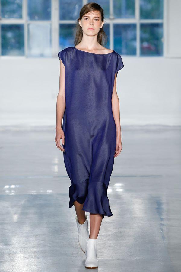 Синие платья весна-лето 2015 Zero+Maria Cornejo