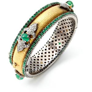 Золотые браслеты с изумрудами 2015 (16)