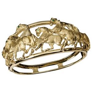Золотые браслеты с изумрудами 2015 (2)