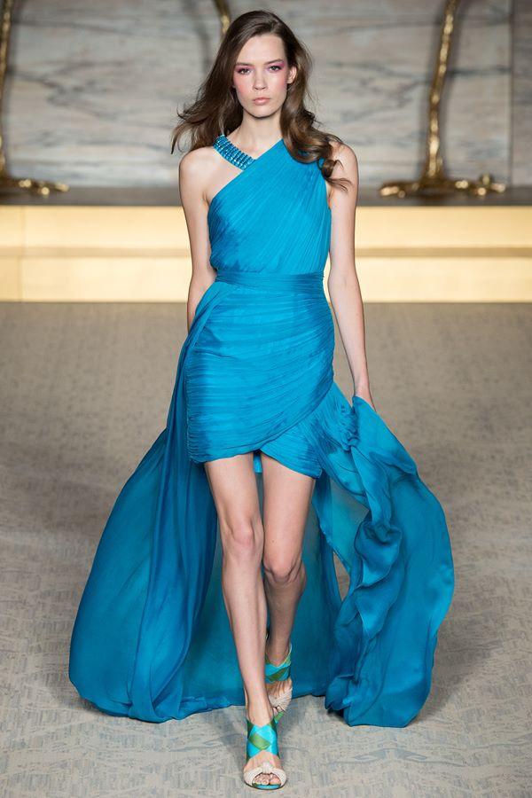 Голубые платья весна-лето 2015 Matthew Williamson