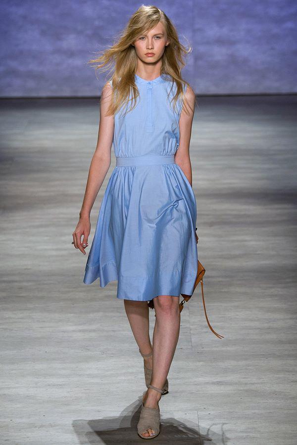 Голубые платья весна-лето 2015 Rebecca Minkoff