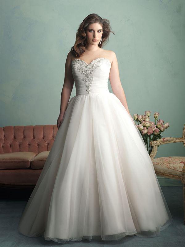 свадебные платья для полных Allure Bridals 2015 (1)
