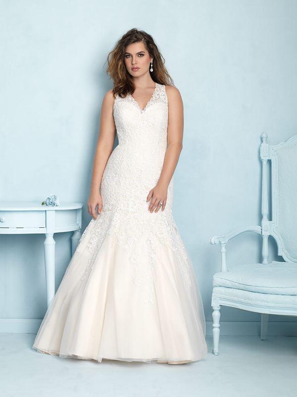 свадебные платья для полных Allure Bridals 2015 (9)