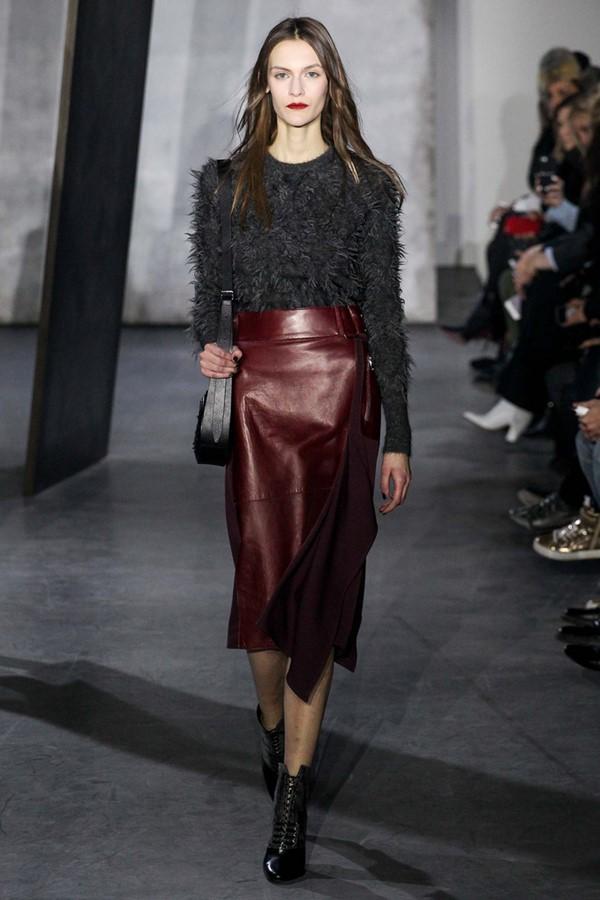 Кожаные юбки осень-зима 2015-2016: 3.1 Phillip Lim