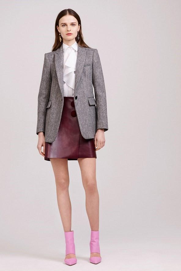 Кожаные юбки осень-зима 2015-2016: Adam Lippes
