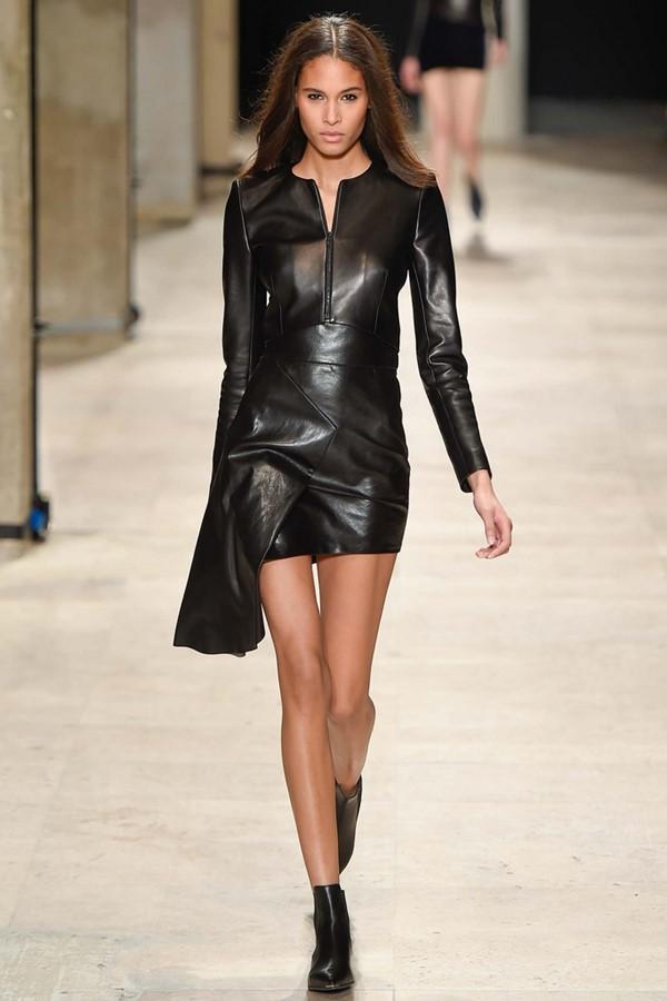 Кожаные платья осень-зима 2015-2016: Barbara Bui