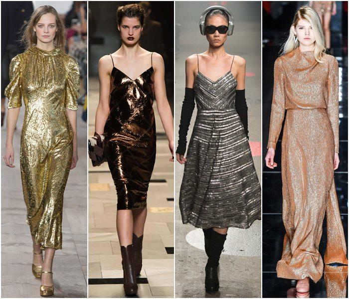 Блестящие платья осень-зима 2015-2016