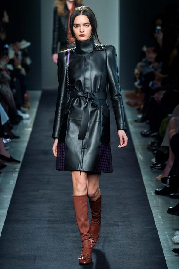 Кожаные пальто и плащи осень-зима 2015-2016: Bottega Veneta