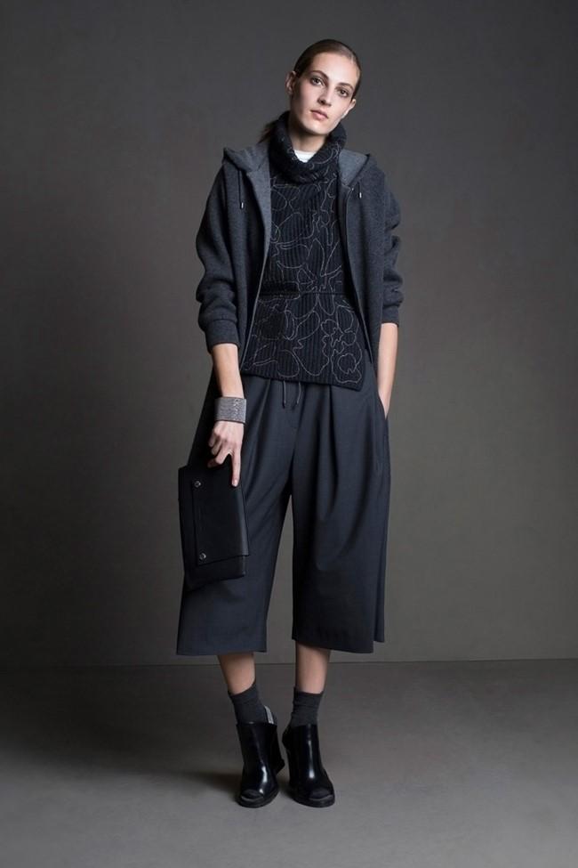 Широкие брюки осень-зима 2015-2016 Brunello Cucinelli