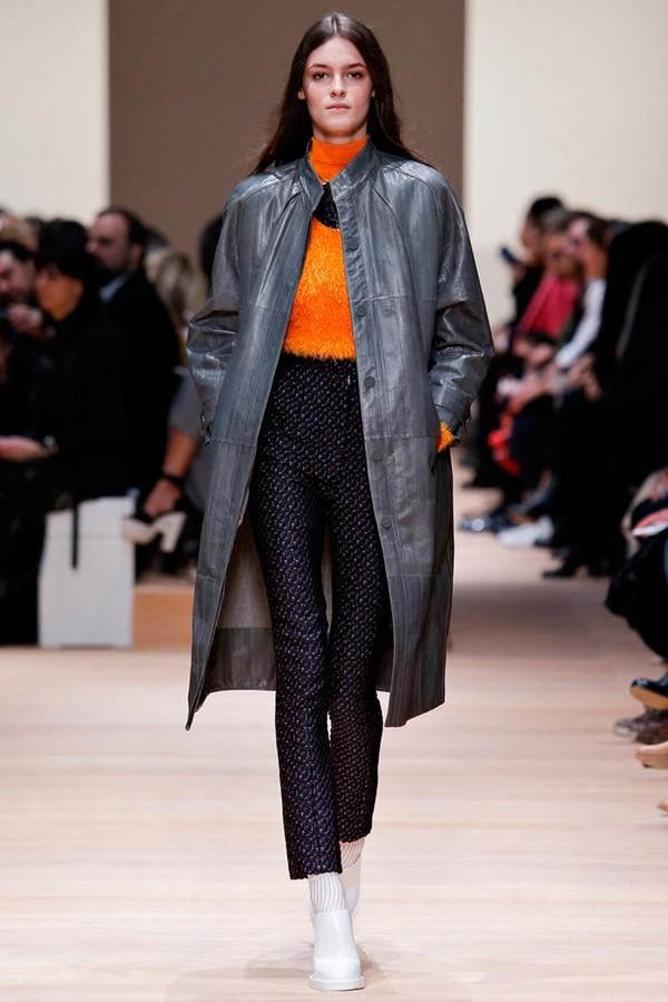Кожаные пальто и плащи осень-зима 2015-2016: Carven