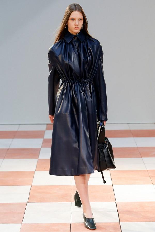 Кожаные пальто и плащи осень-зима 2015-2016: Céline