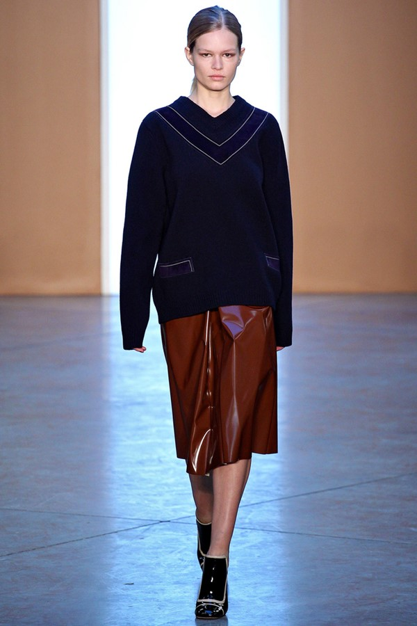 Кожаные юбки осень-зима 2015-2016: Derek Lam