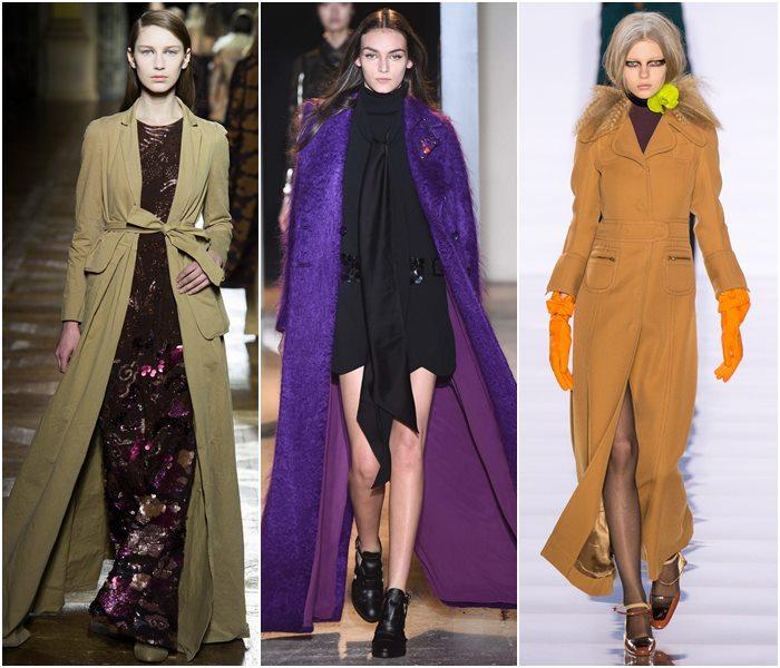 Длинные пальто осень-зима 2015-2016-1