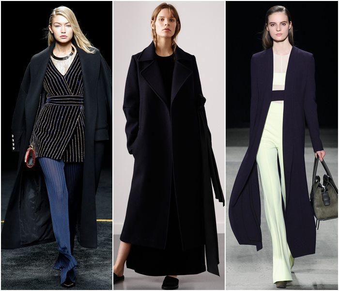Длинные пальто осень-зима 2015-2016