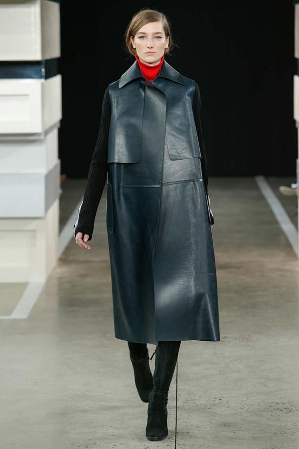Кожаные пальто и плащи осень-зима 2015-2016: Edun