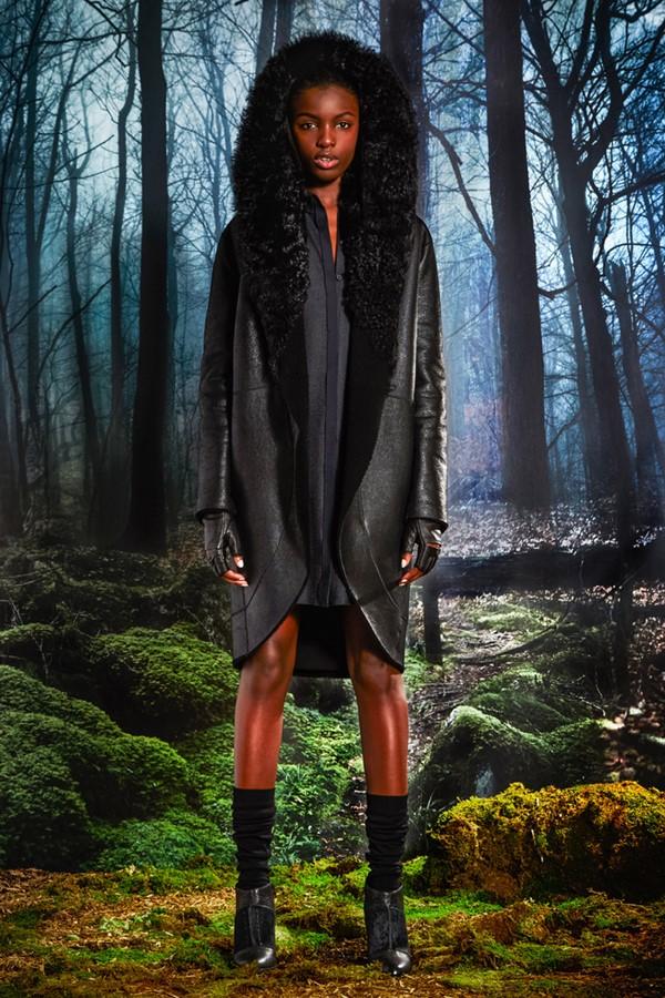 Кожаные пальто и плащи осень-зима 2015-2016: Elie Tahari