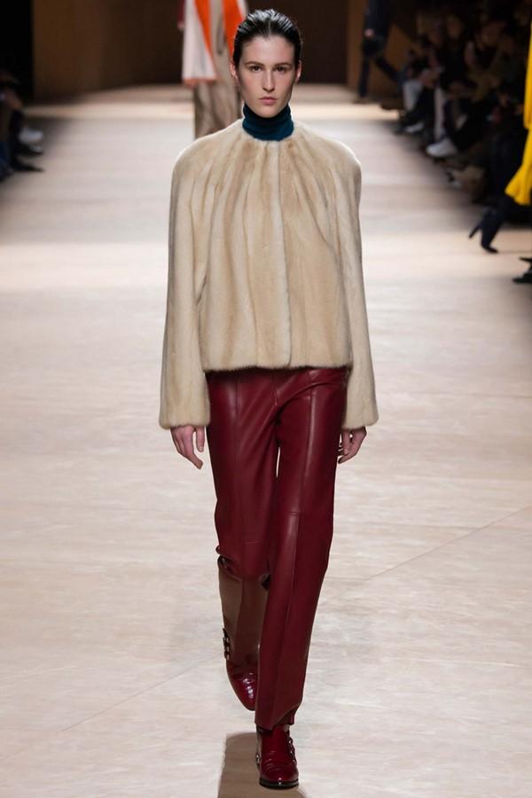 Кожаные брюки осень-зима 2015-2016: Hermès