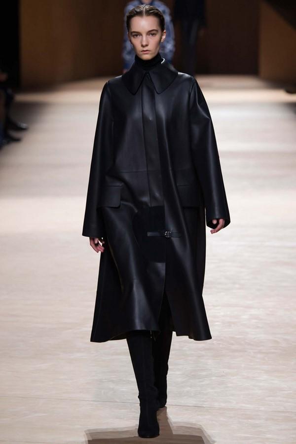 Кожаные пальто и плащи осень-зима 2015-2016: Hermès