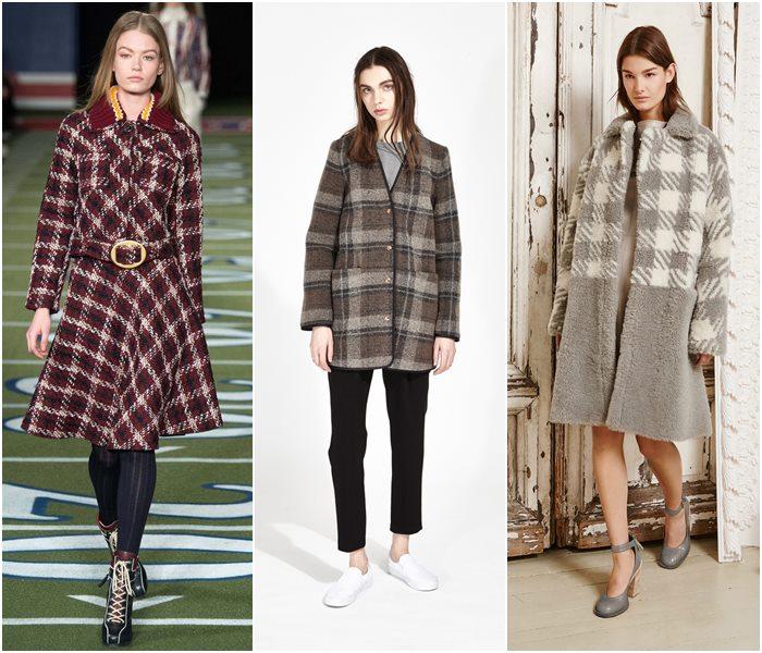 Клетчатые пальто осень-зима 2015-2016-3