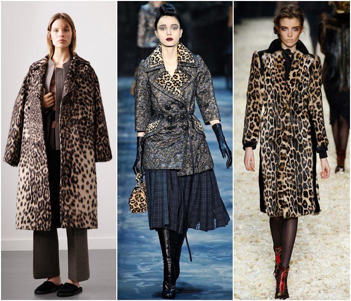 Леопардовые пальто осень-зима 2015-2016-1