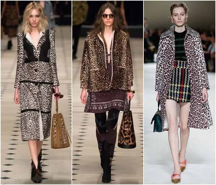 Леопардовые пальто осень-зима 2015-2016