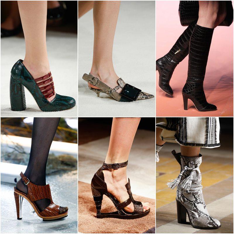 Обувь из экзотической кожи осень-зима 2015-2016