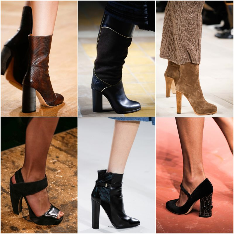 Обувь на высоком устойчивом каблуке осень-зима 2015-2016