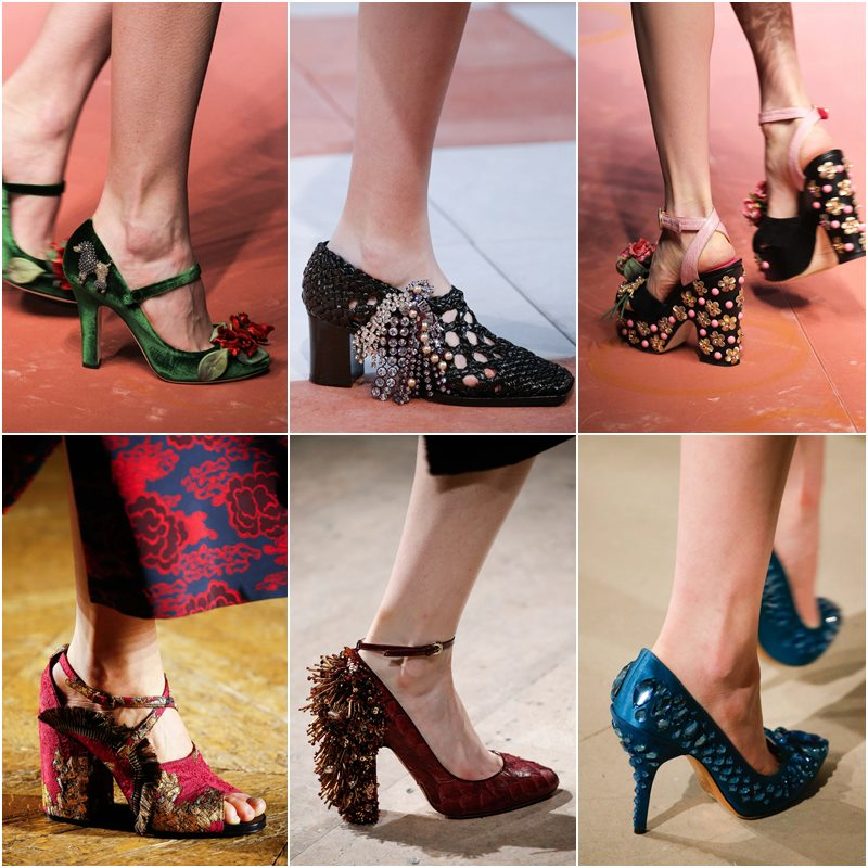 Обувь с 3D-декором осень-зима 2015-2016