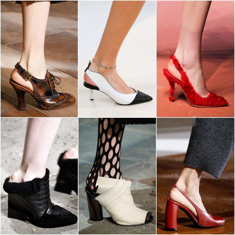 Обувь с открытой пяткой осень-зима 2015-2016