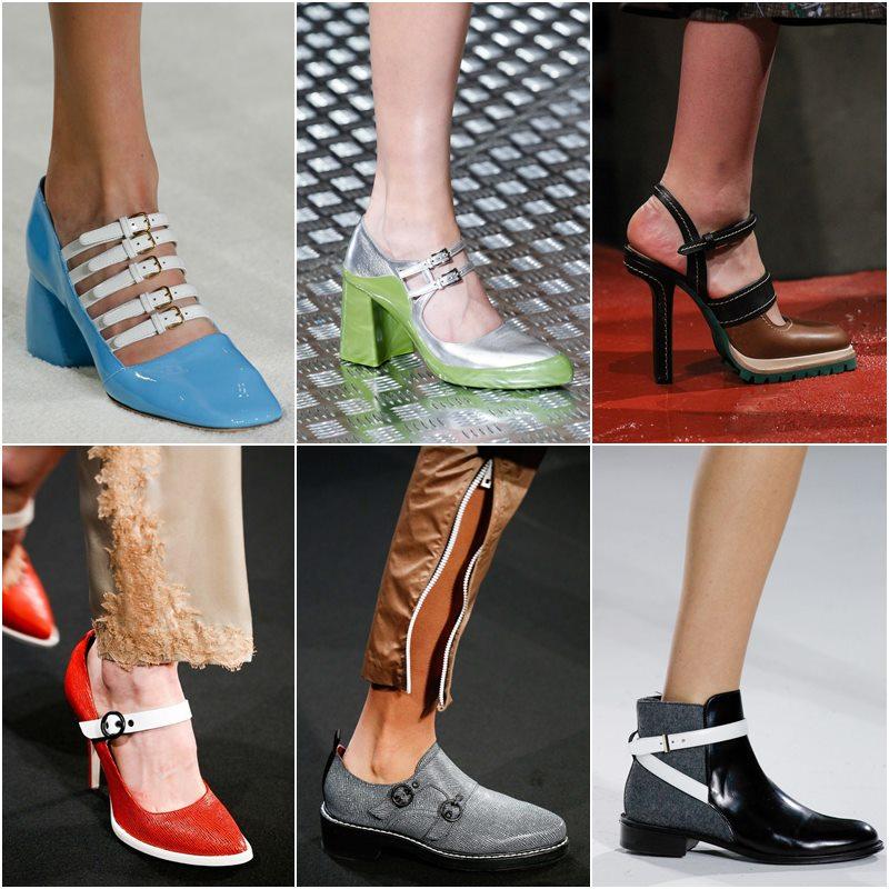 Обувь с ремешками и пряжками осень-зима 2015-2016