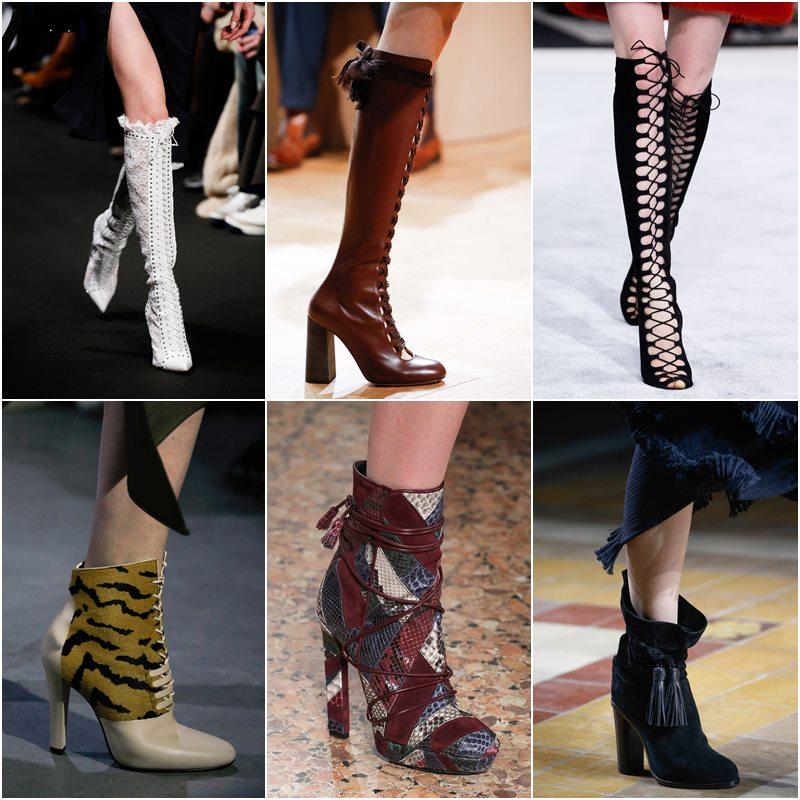 Обувь со шнуровкой осень-зима 2015-2016