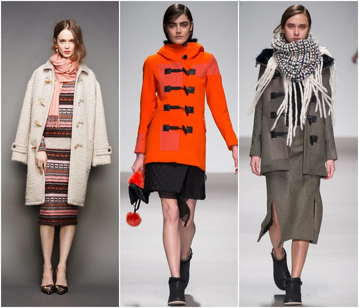 Пальто-даффлкот осень-зима 2015-2016