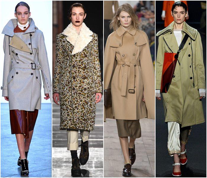 Пальто-милитари осень-зима 2015-2016