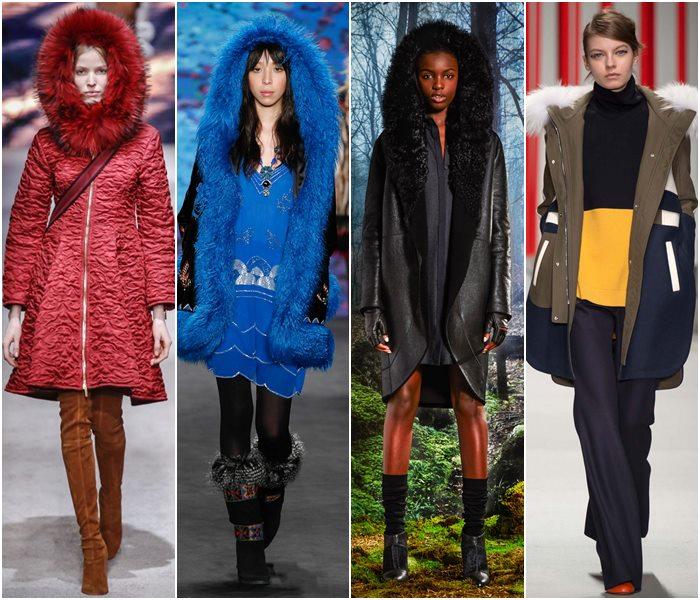 Пальто с капюшоном осень-зима 2015-2016-1