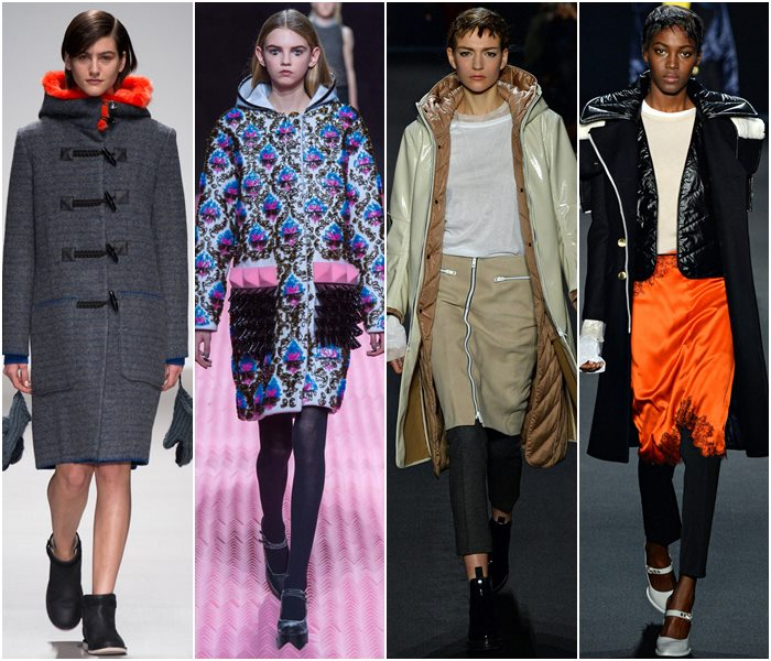 Пальто с капюшоном осень-зима 2015-2016-2