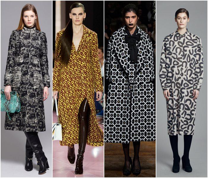 Пальто-тромплей осень-зима 2015-2016