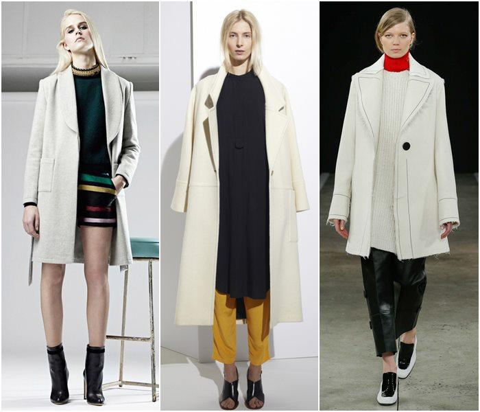 Пальто в стиле минимализм осень-зима 2015-2016